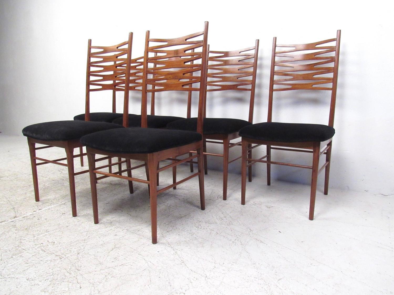 Set Of Mid Century Danish Modern Teak Dining Chairs After Johannes Andersen A