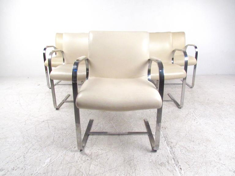 Mid-20th Century Mid-Century Modern Mies van der Rohe Brno Style Dining Chairs For Sale