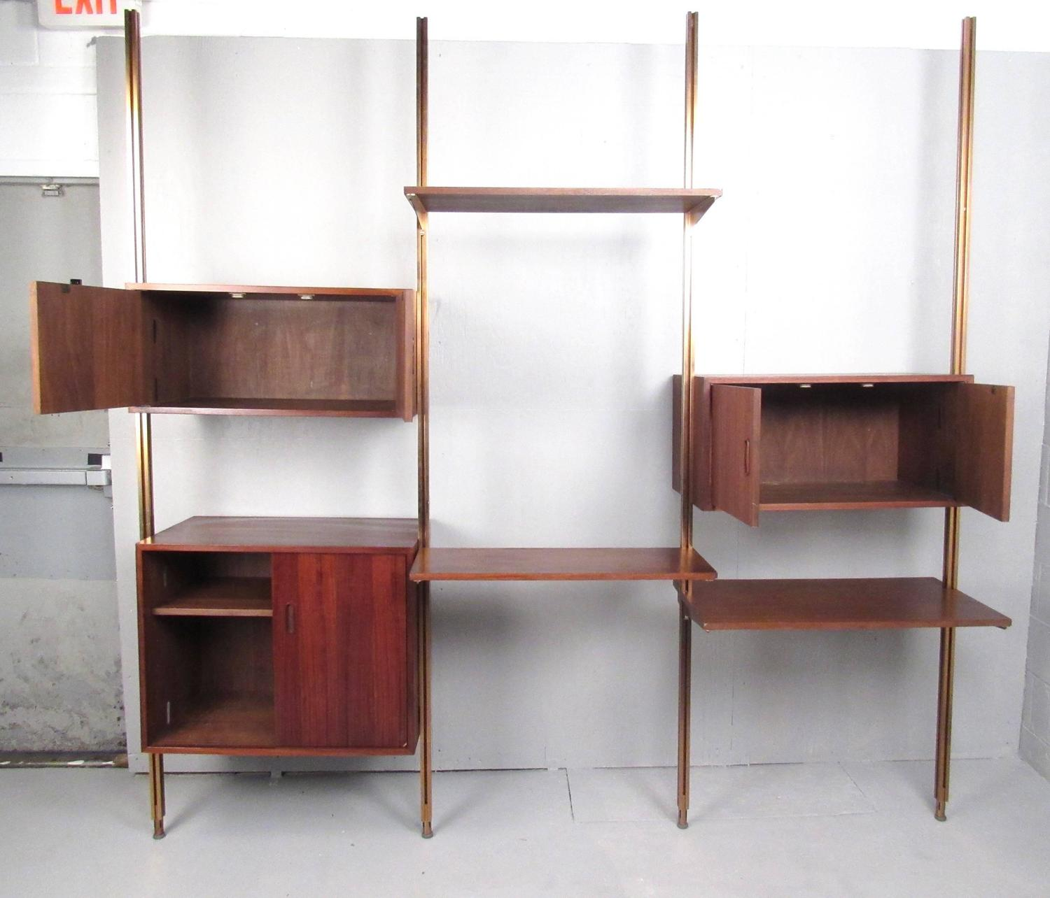 Mid century modern teak omnia modular wall unit by george for Mid century modern modular homes