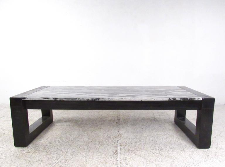 20th Century Contemporary Modern Marble-Top Cocktail Table For Sale