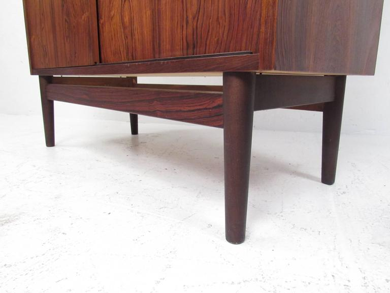 Mid-Century Modern Danish Rosewood Secretary Desk and Shelf For Sale 3