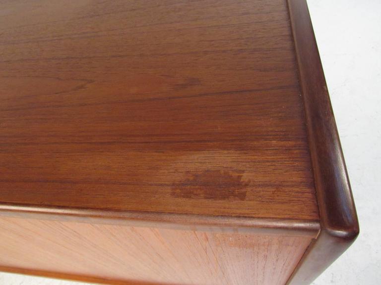 Danish Modern Teak Tambour Sideboard in the Style of Hans Wegner For Sale 3