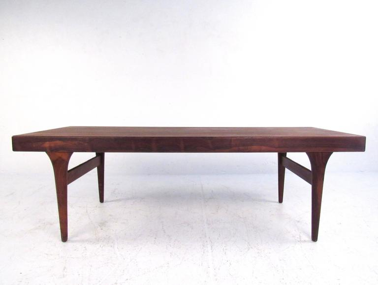 Johannes andersen rosewood coffee table with draw leaf for Extension coffee table