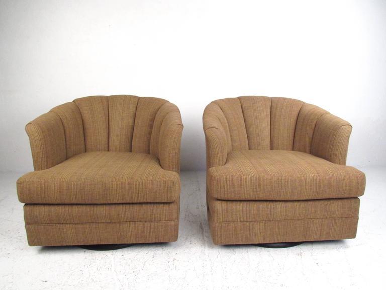 Strange Pair Of Contemporary Barrel Back Swivel Chairs Creativecarmelina Interior Chair Design Creativecarmelinacom