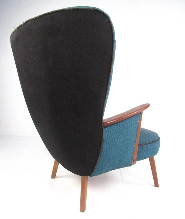 Mid-Century Modern Wingback Lounge Chair by Madsen and Schübel Pragh In Good Condition For Sale In Brooklyn, NY