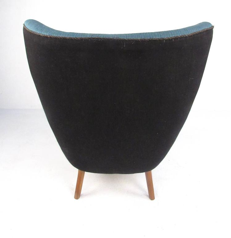Mid-20th Century Mid-Century Modern Wingback Lounge Chair by Madsen and Schübel Pragh For Sale