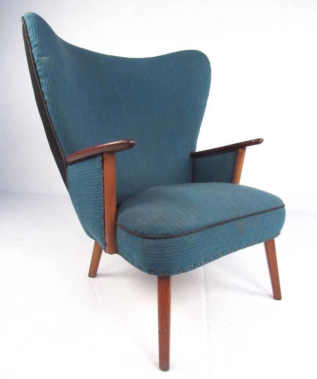 Mid-Century Modern Wingback Lounge Chair by Madsen and Schübel Pragh For Sale 1