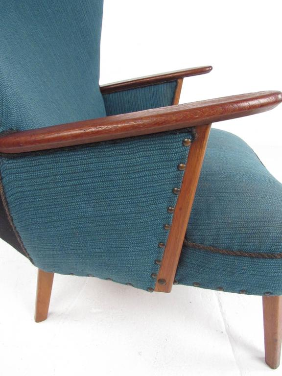Mid-Century Modern Wingback Lounge Chair by Madsen and Schübel Pragh For Sale 2
