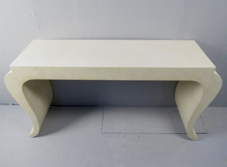 20th Century Contemporary Modern Console Table With Wall Mirror For Sale