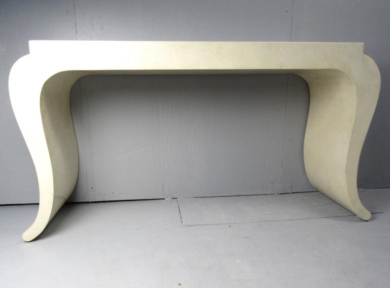 Contemporary Modern Console Table With Wall Mirror For Sale 1