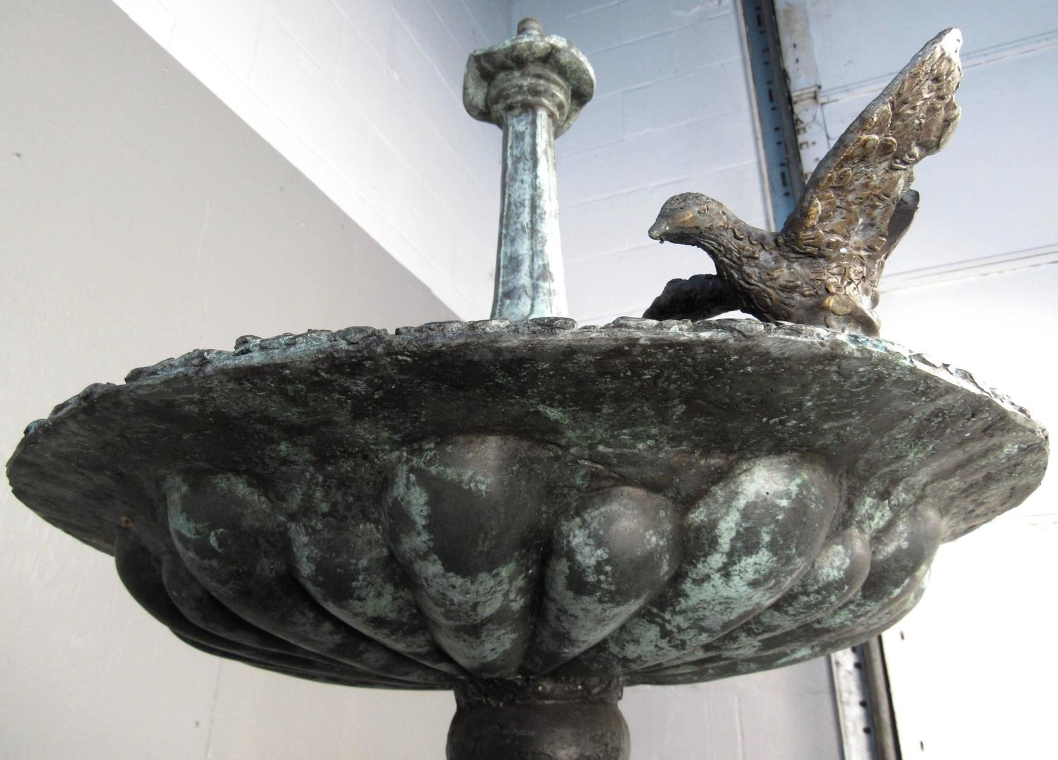 Impressive Bronze Garden Fountain With Lionhead Spout Water Feature For Sale At 1stdibs