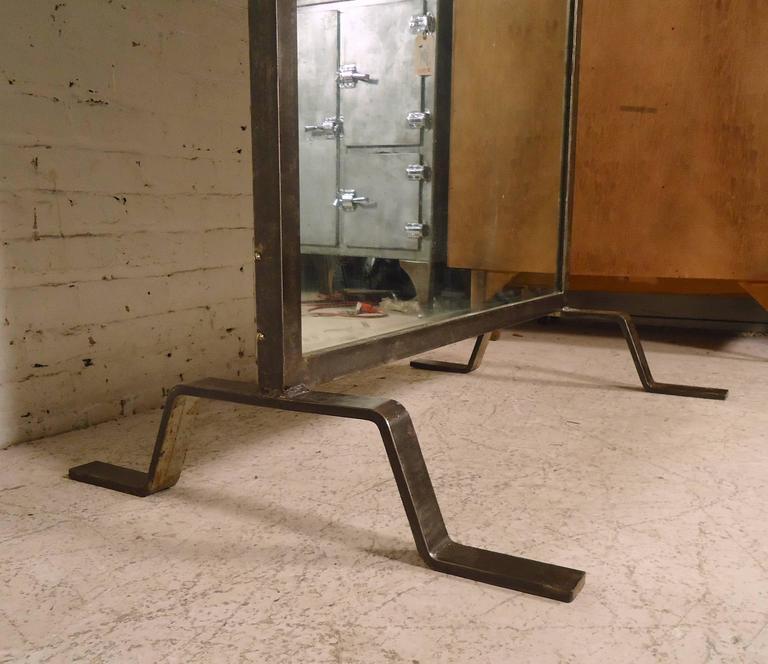 Industrial Floor Mirror: Immense Industrial Standing Mirror At 1stdibs