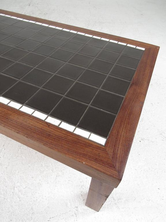 American Long and Low Mid-Century Mosaic Tile Coffee Table by Gordon and Jane Martz For Sale