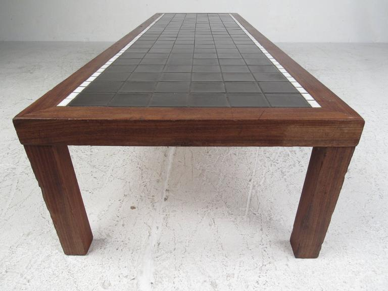 Mid-Century Modern Long and Low Mid-Century Mosaic Tile Coffee Table by Gordon and Jane Martz For Sale