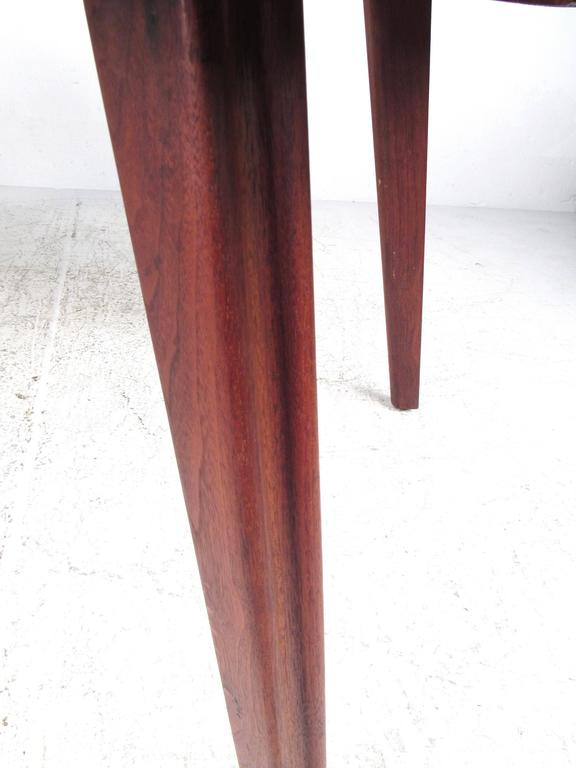 Wood Mid-Century Six Chair Dining Set For Sale