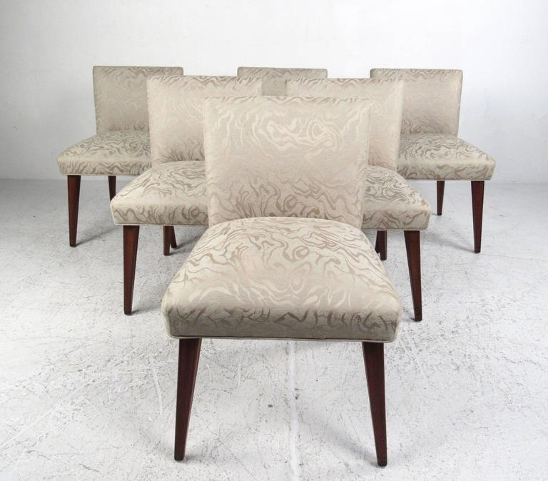 Mid-Century Modern Mid-Century Six Chair Dining Set For Sale
