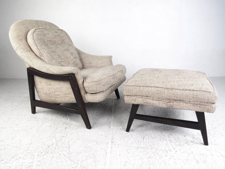Mid Century Modern Dunbar Lounge Chair with Ottoman at 1stdibs