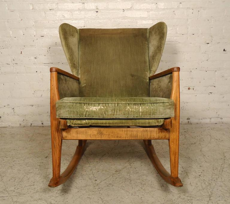 Parker Knoll Wingback Rocking Chair For Sale at 1stdibs