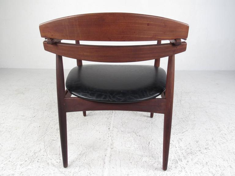 Danish Mid-Century Modern Sculpted Teak Side Chair For Sale