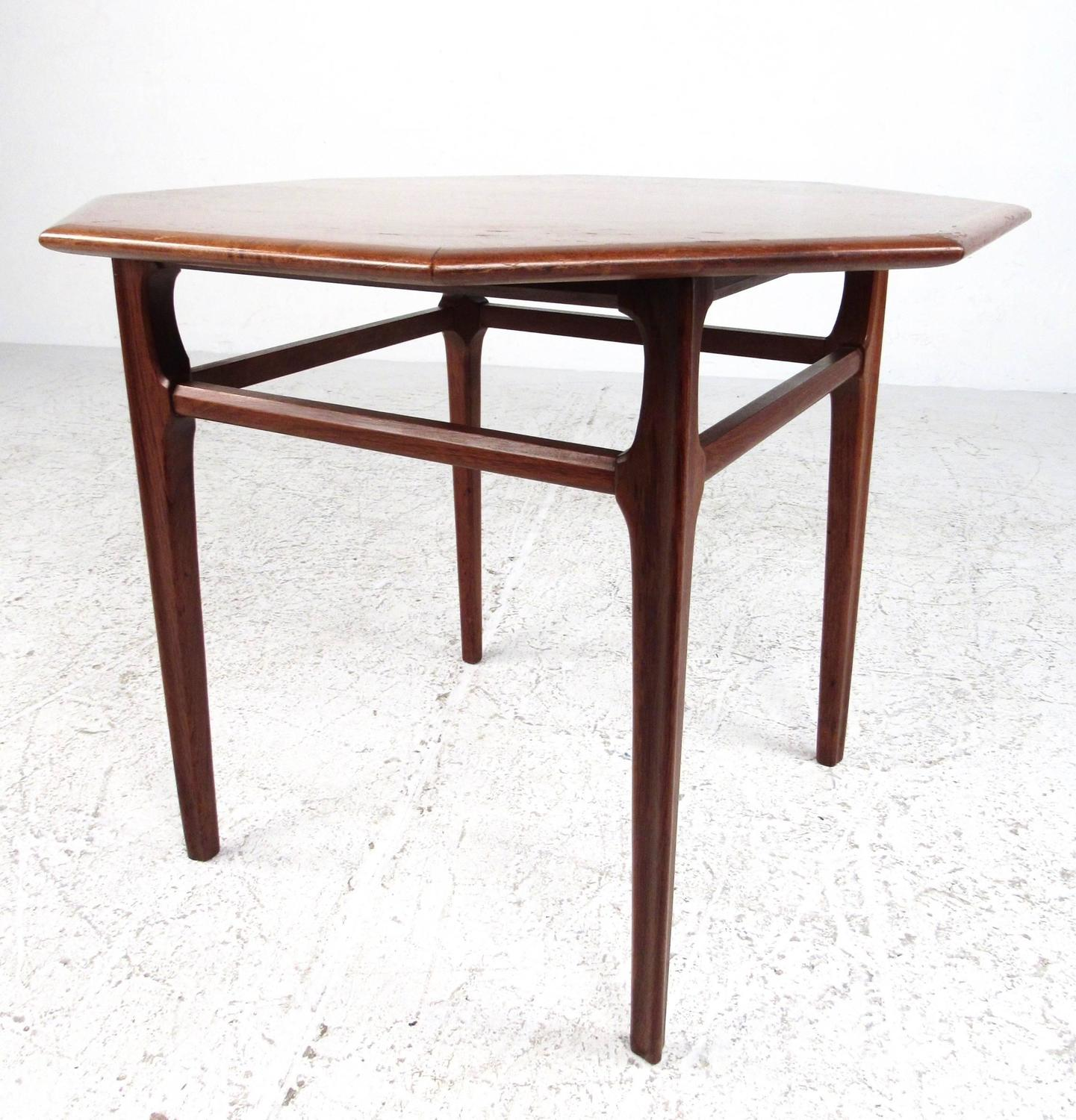 Octagon Side Table ~ Mid century modern octagonal side table by mersman for