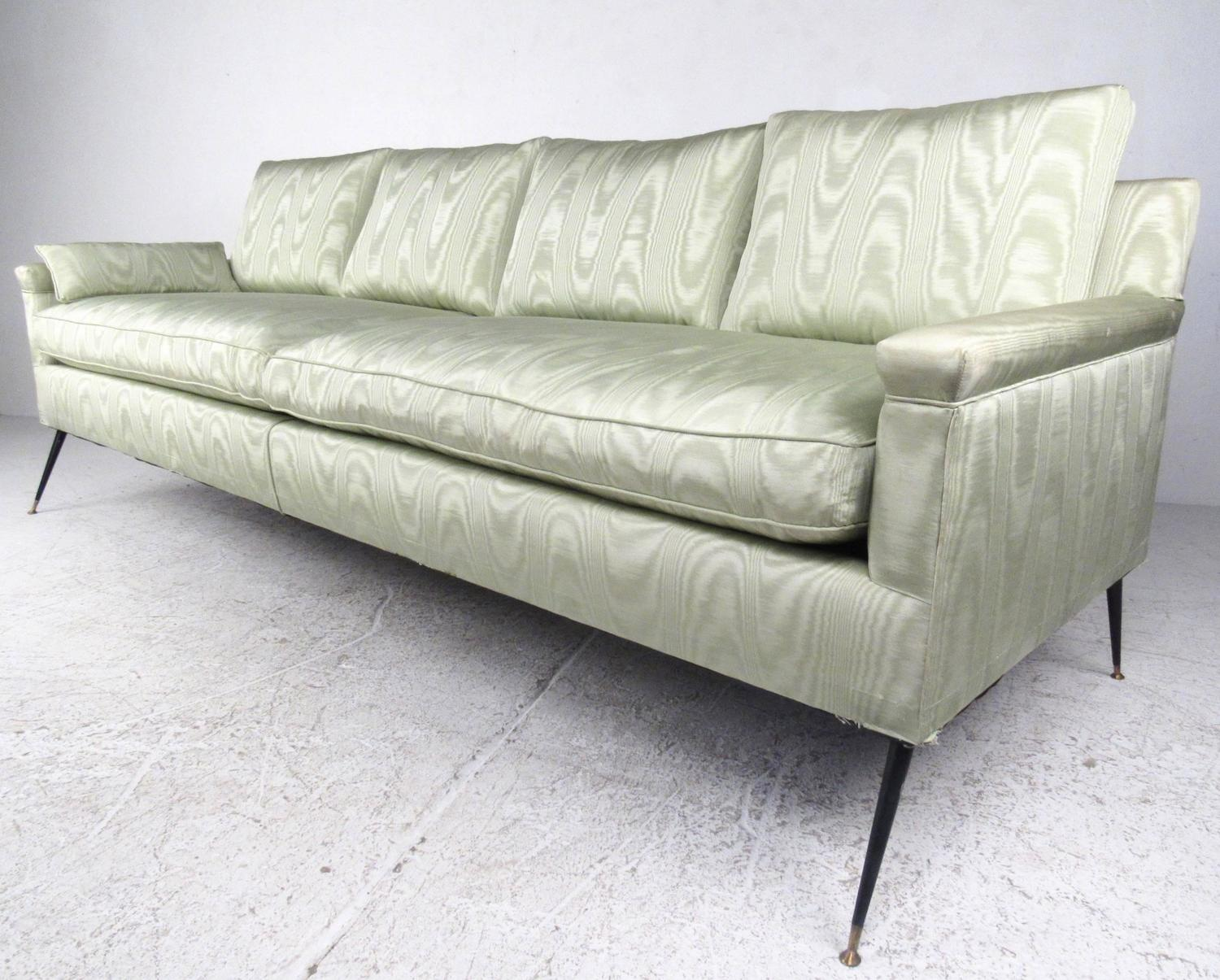 large mid century modern italian style sofa for sale at