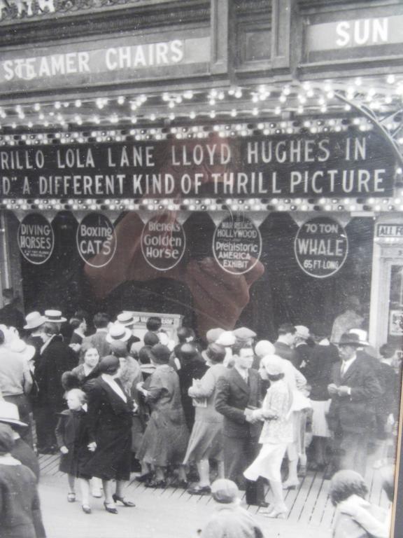 Vintage Atlantic City Boardwalk Black and White Print Photograph For Sale 1
