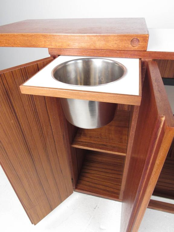 Mid-Century Modern Danish Teak Expandable Bar Cabinet 8