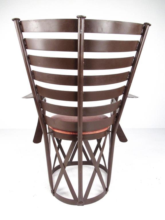 20th Century  Decorative Modern Sculptural Armchair For Sale