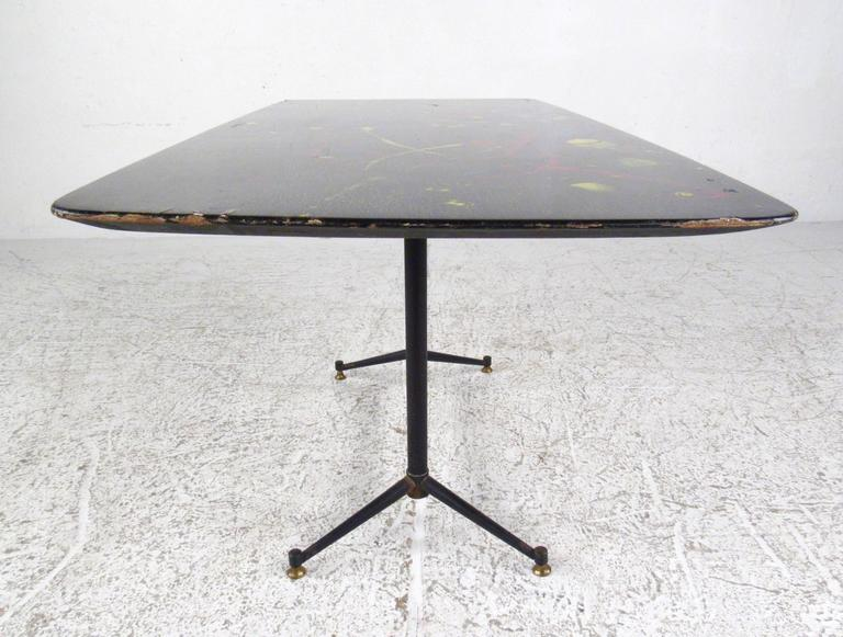 Mid Century Modern Hand Painted Italian Coffee Table For Sale At 1stdibs