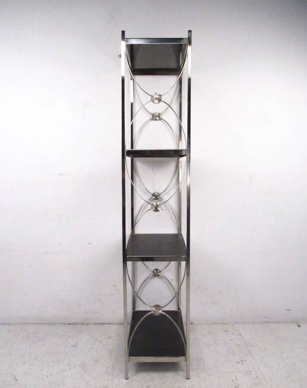 contemporary modern decorative chrome etagere display. Black Bedroom Furniture Sets. Home Design Ideas