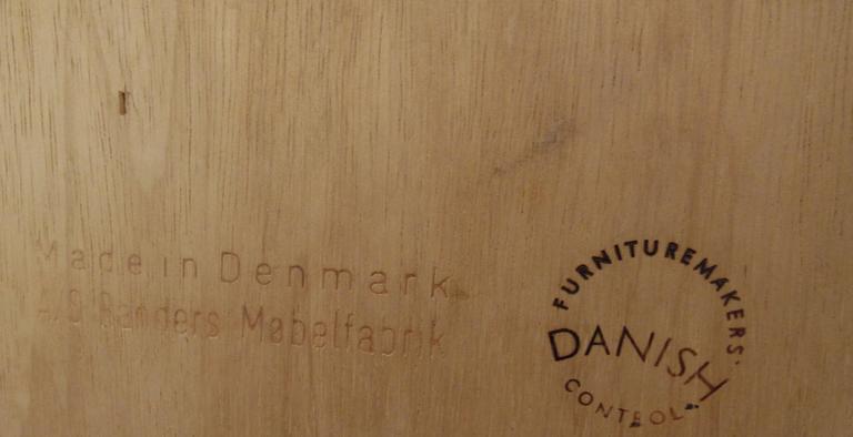 Danish Office Credenza : Large scandinavian modern danish teak office credenza by a s randers