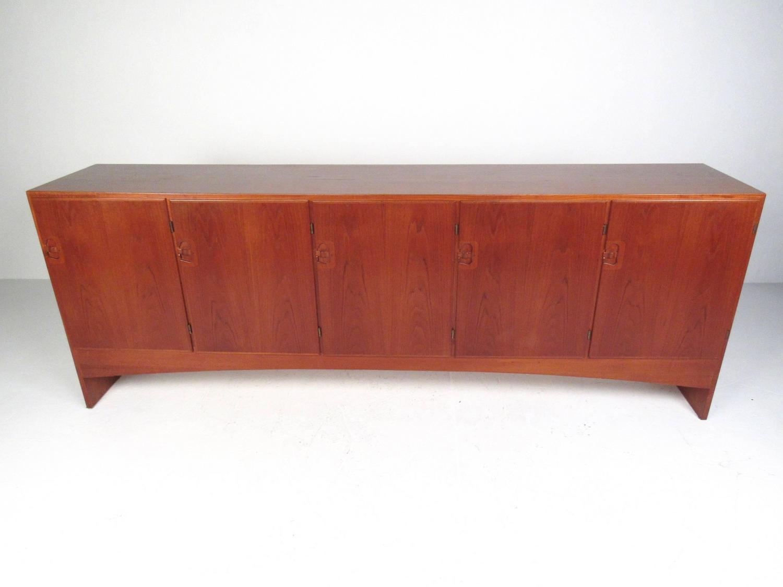 Large scandinavian modern danish teak office credenza by a for Modern office credenza furniture