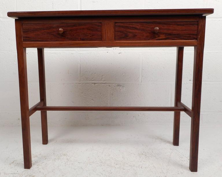 Lovely Vintage Modern Small Console Table Features Two Drawers With Unique  Round Pulls. Beautiful Vintage