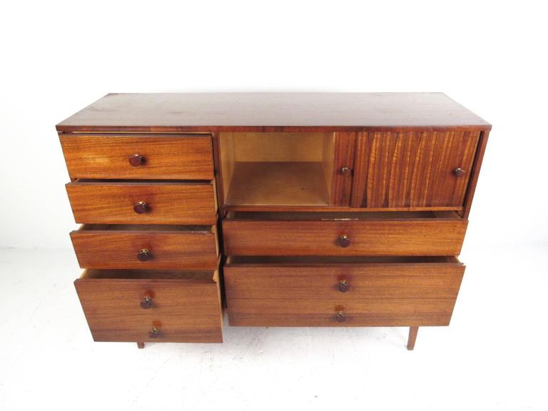 American Rare Mid-Century Modern Armoire Dresser by Lane For Sale