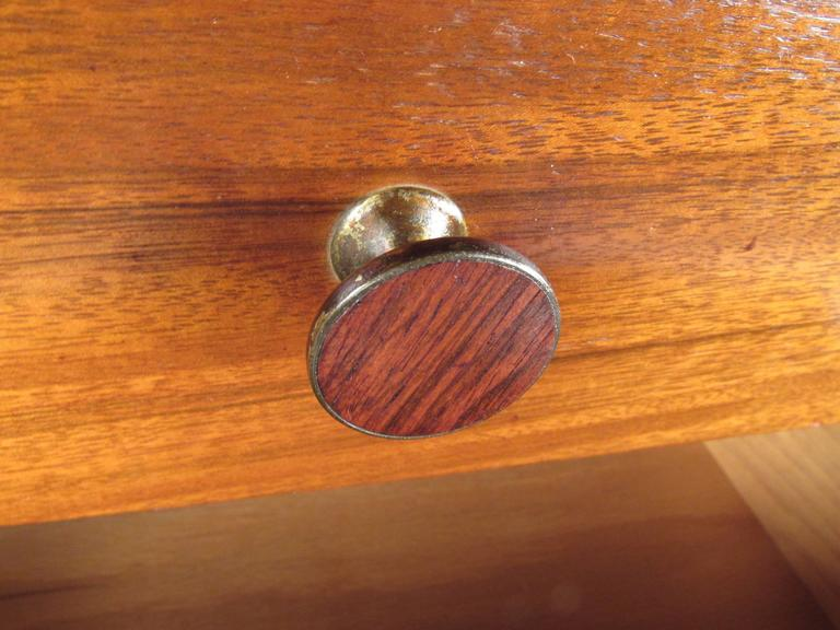 Walnut Rare Mid-Century Modern Armoire Dresser by Lane For Sale