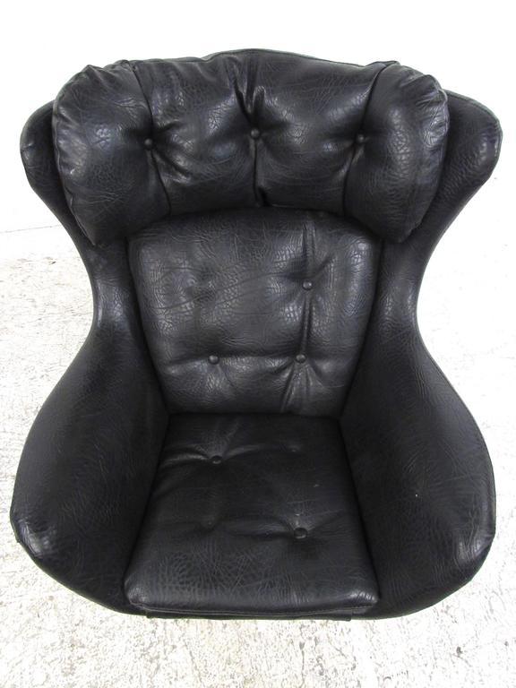 Mid Century Modern Vintage Modern Swivel Childu0027s Lounge Chair In The Style  Of Arne Jacobsen