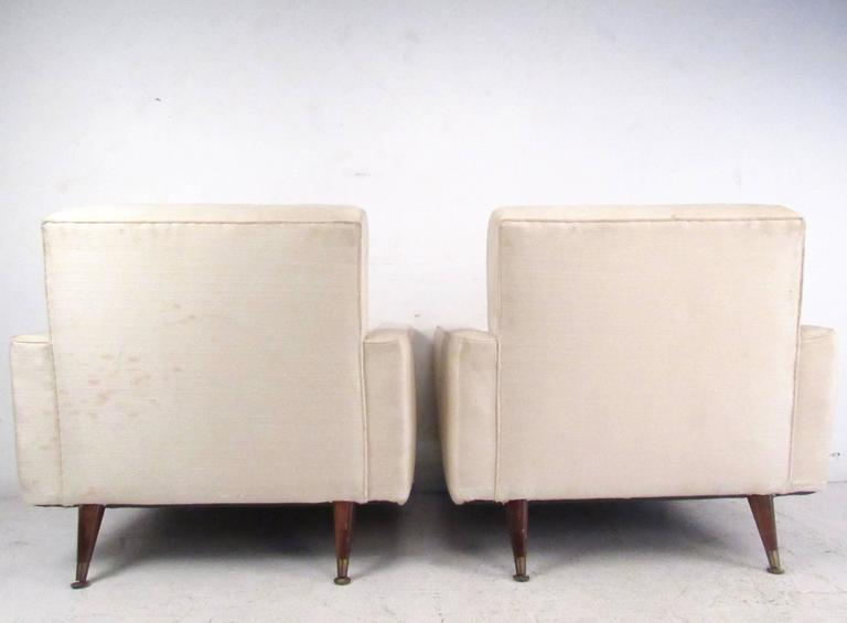 Pair of Mid-Century Modern Paul McCobb Style Lounge Chairs In Good Condition For Sale In Brooklyn, NY