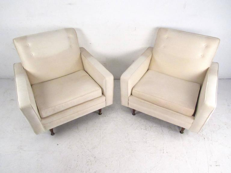 American Pair of Mid-Century Modern Paul McCobb Style Lounge Chairs For Sale