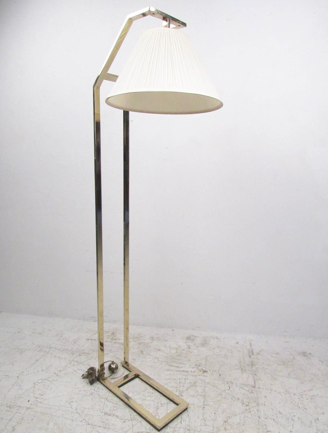 Elegant contemporary modern brass cantilever floor lamp for sale at 1stdibs - Artistic d lamp shade designed with modern and elegant shape style ...