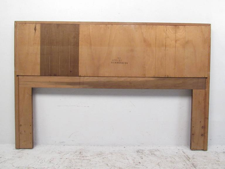 Late 20th Century Mid-Century Modern Rosewood and Walnut Queen-Size Bed Headboard