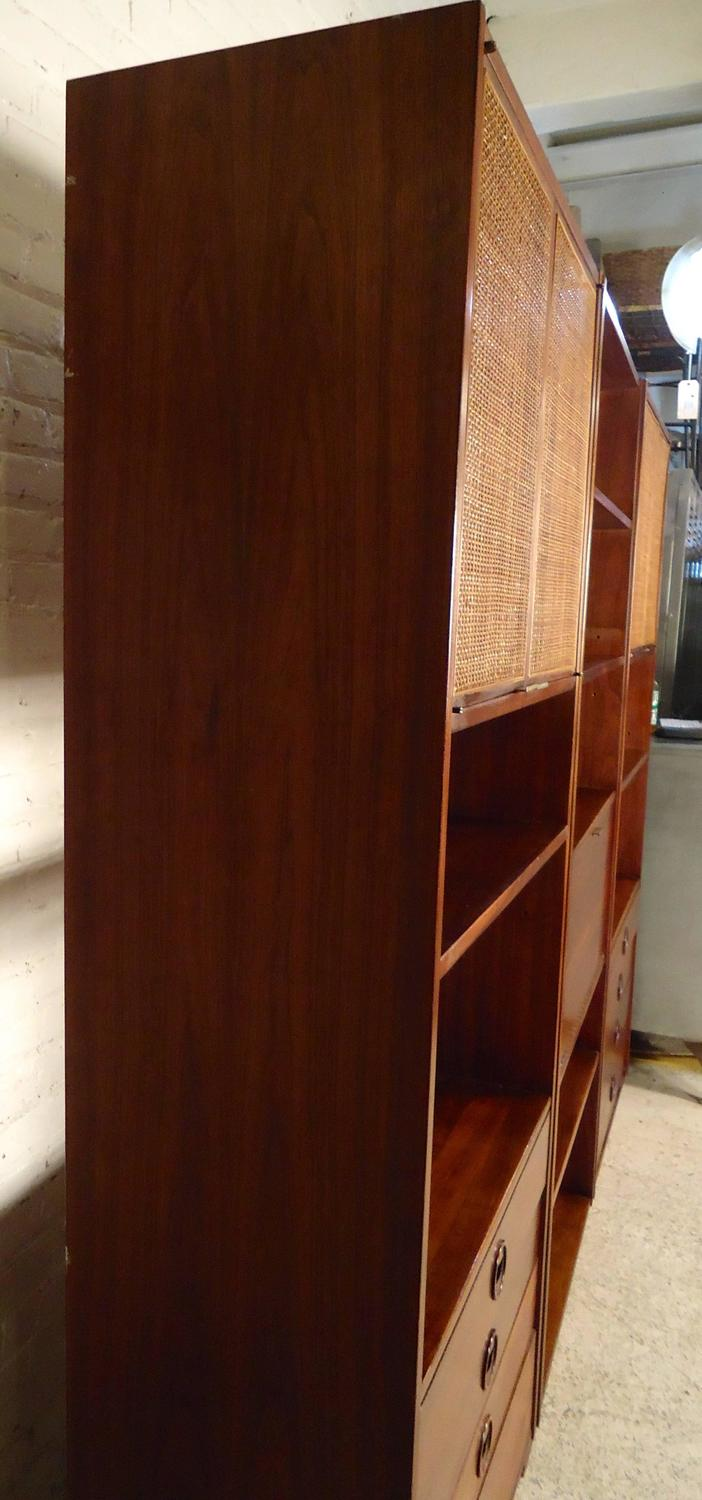 Mid Century Modern Three Piece Wall Unit For Sale At 1stdibs