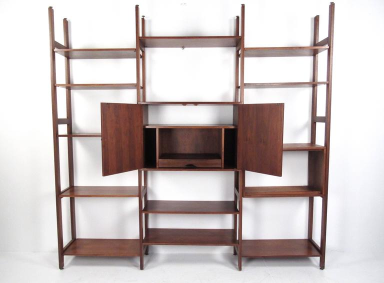 Mid Century Modern Vintage Bookshelf Or Wall Unit For Sale