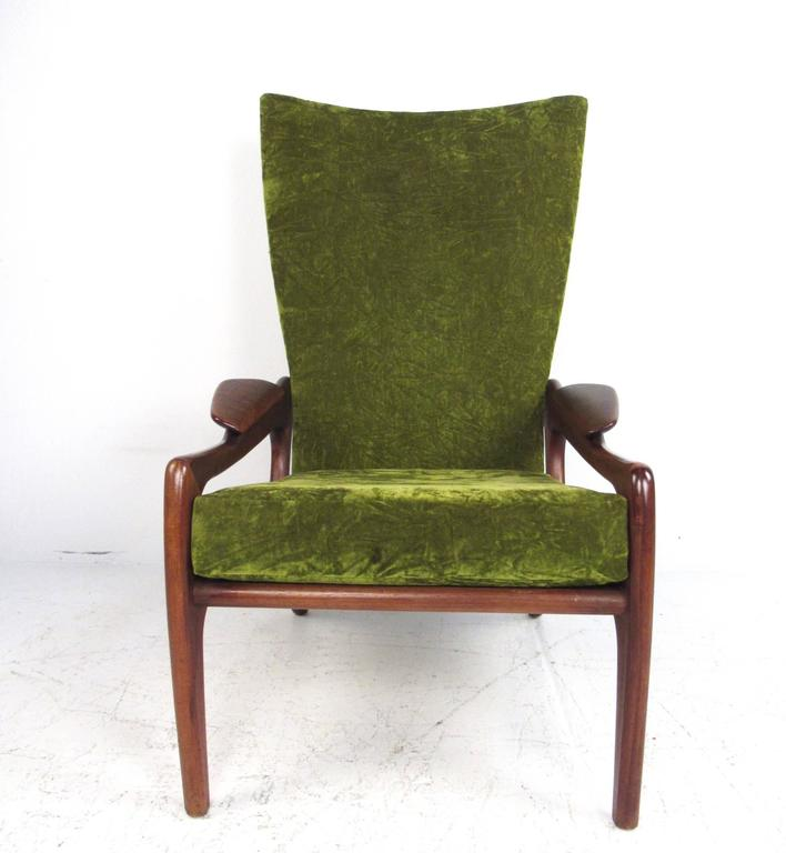 Mid Century Modern Wingback Lounge Chair By Adrian
