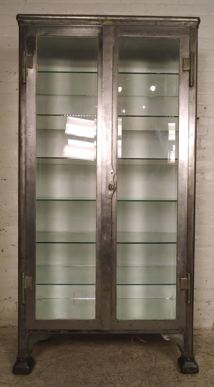Massive Industrial Metal Display Cabinet For Sale At 1stdibs