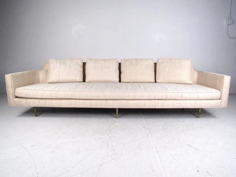 Dunbar Sofa with Brass Legs by Edward Wormley For Sale at 1stdibs