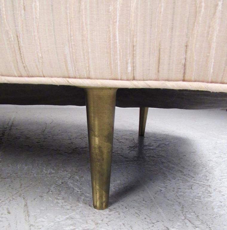 Dunbar Sofa with Brass Legs by Edward Wormley For Sale 1