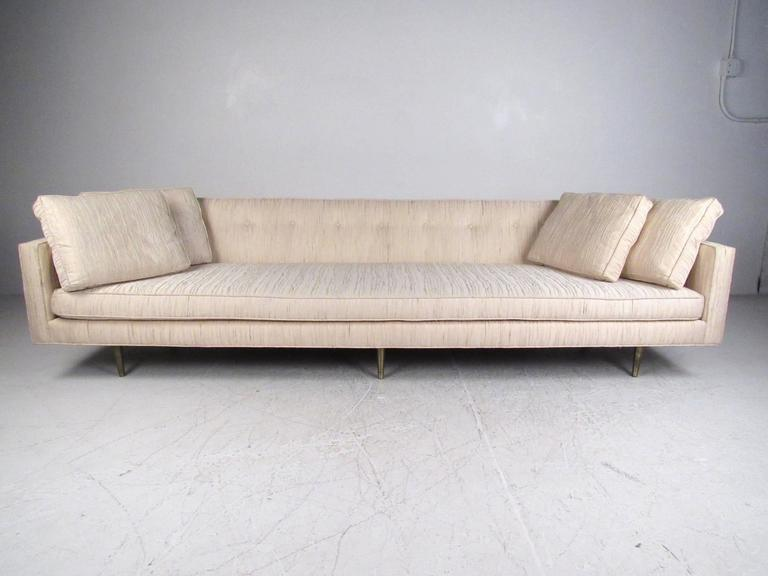 This Large Stylish Mid Century Modern Sofa By Edward Wormley For Dunbar Features
