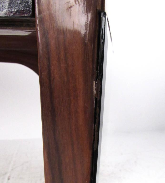 Italian Modern Writing Desk in Rosewood For Sale 3