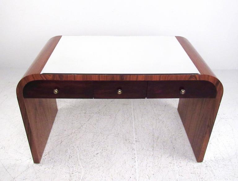 20th Century Italian Modern Writing Desk in Rosewood For Sale