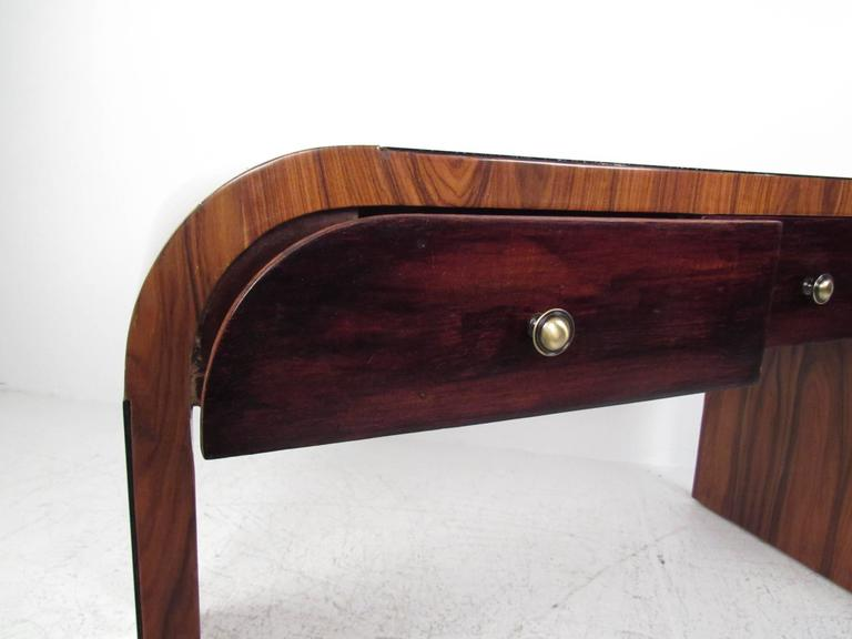 Italian Modern Writing Desk in Rosewood For Sale 1